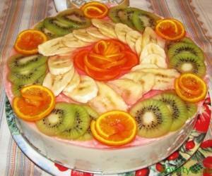 """Творожный торт-суфле """"Фруктовая фантазия"""""""