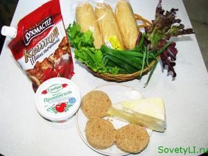 продукты для чизбургера