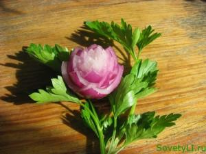 Карвинг-лилия из репчатого лука