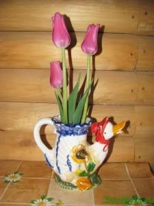 Тюльпаны на подоконнике к 8 марта