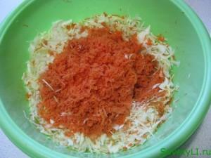 Приготовление салата Солнышко