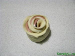 розы из теста