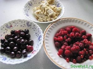 фрукты и ягоды для торта-суфле