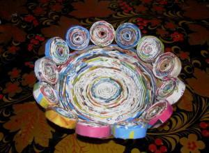 Изделия из бумажных трубочек, порядок работы