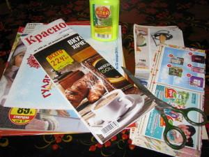 Изделия из бумажных трубочек, подготовка к работе