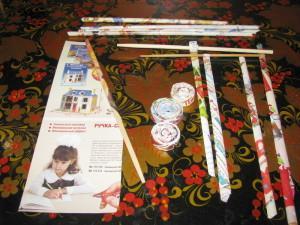 Изделия из бумажных трубочек, скручивание трубочек