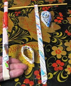 Изделия из бумажных трубочек, детали для работы