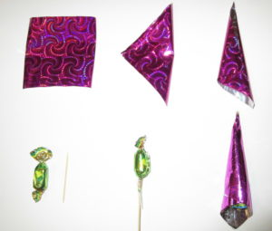 Заготовки для петушка из конфет