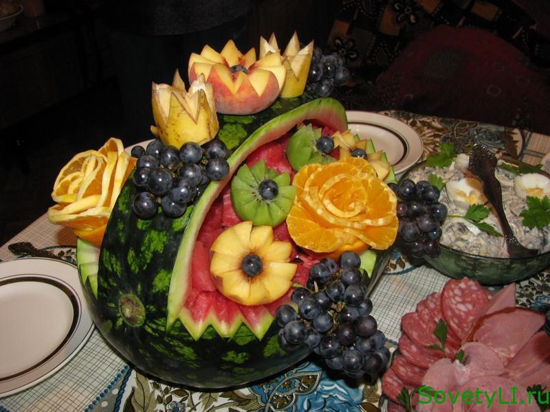 фото с арбуз корзинка фруктами