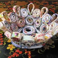 порядок работы изготовления вазочки из бумаги