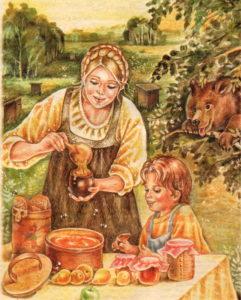 Медовый Спас, угощают медом