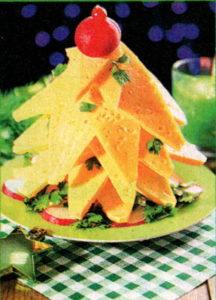 Сырная елочка, закуска на Новый год